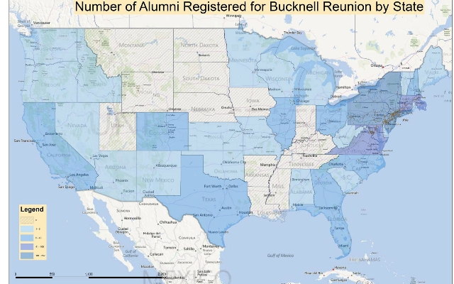 Image of alumni locations