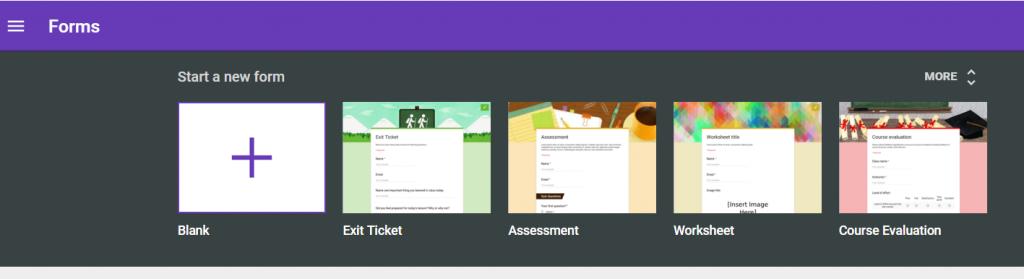 Google Forms Templates from lit.blogs.bucknell.edu