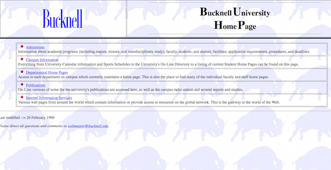 Preserving Bucknell University Online