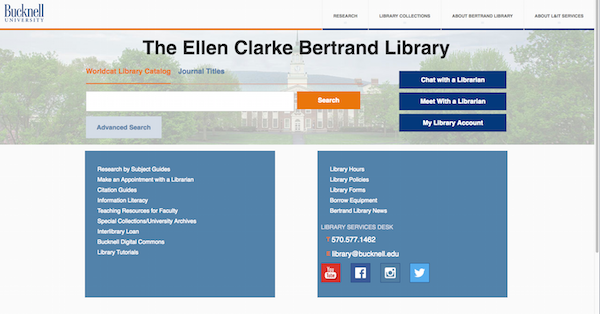 Introducing the New and Improved Bertrand Library Website!