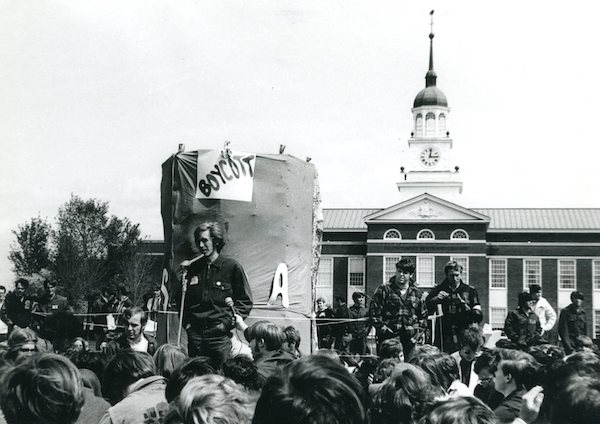 From Special Collections/University Archives:  Bucknell Students on Strike